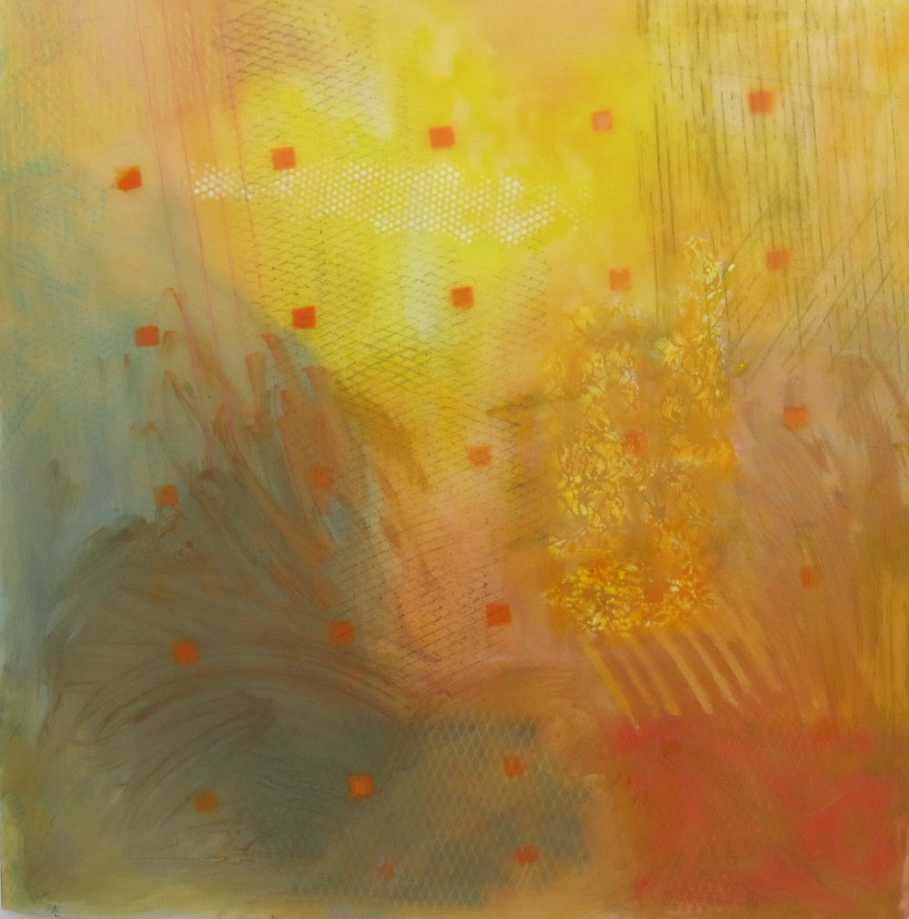 20. Earth Scape Light Comes oil graphite mixed media on lexan 48 x 48 inches.jpg