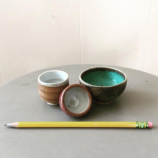 Mini pots.... great stocking stuffers. #pottery #clay #minipots #stockingstuffers