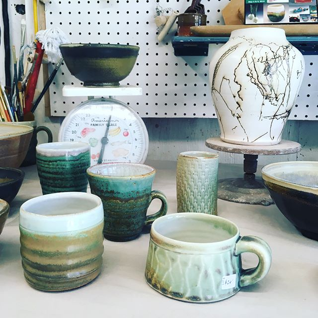 Maine Pottery Tour until 5 today.  New pots, planters, bargain pots, gardens blooming and blue sky for days.  Stop by and stay for the sunshine.  DM if you need directions #mainepotterytour #openstudio #potterysale