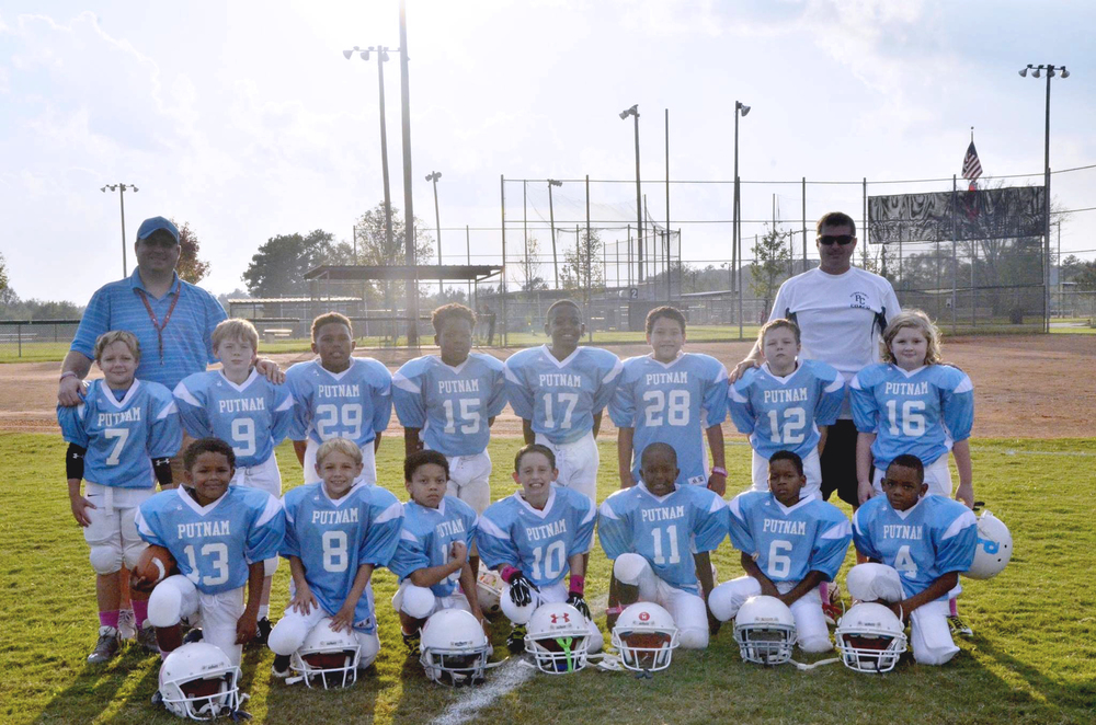 2015 Putnam Blue Eagles 7-8 year team prior to last regular season game.