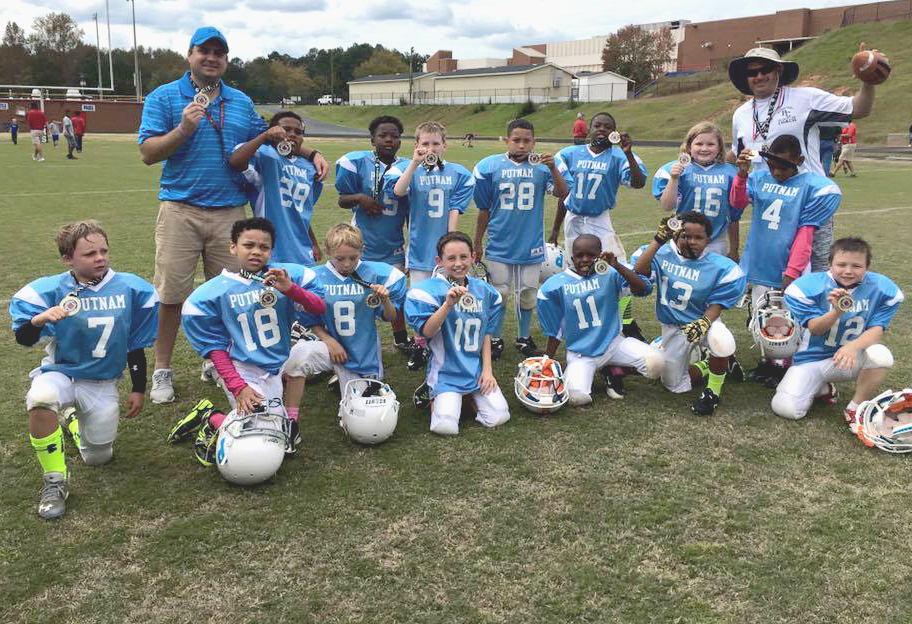 2015 Putnam Blue Eagles 7-8 year team after winning the championship game.