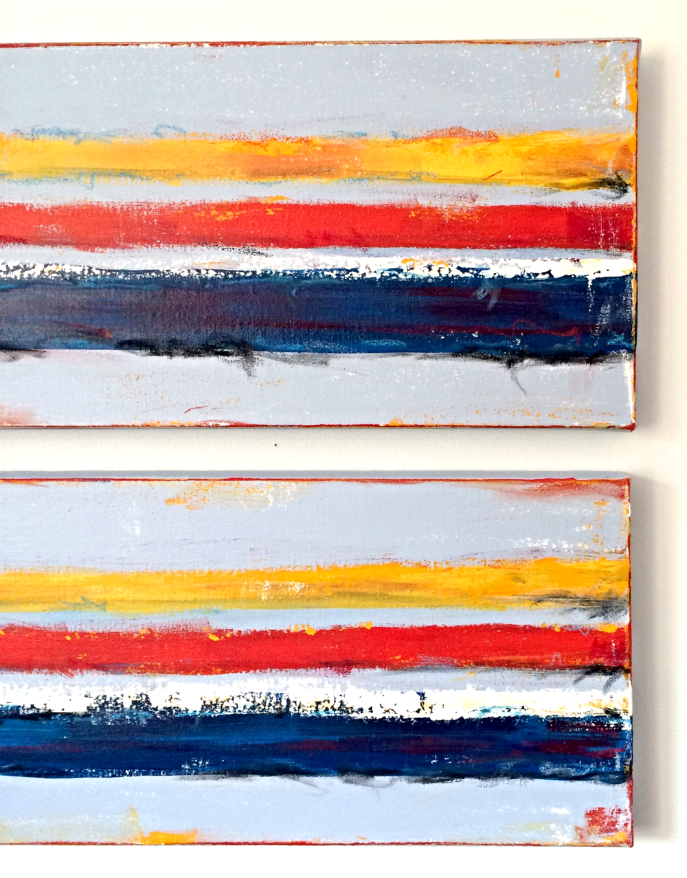 ABSTRACT ART, DIPTYCH, 10X30INCH