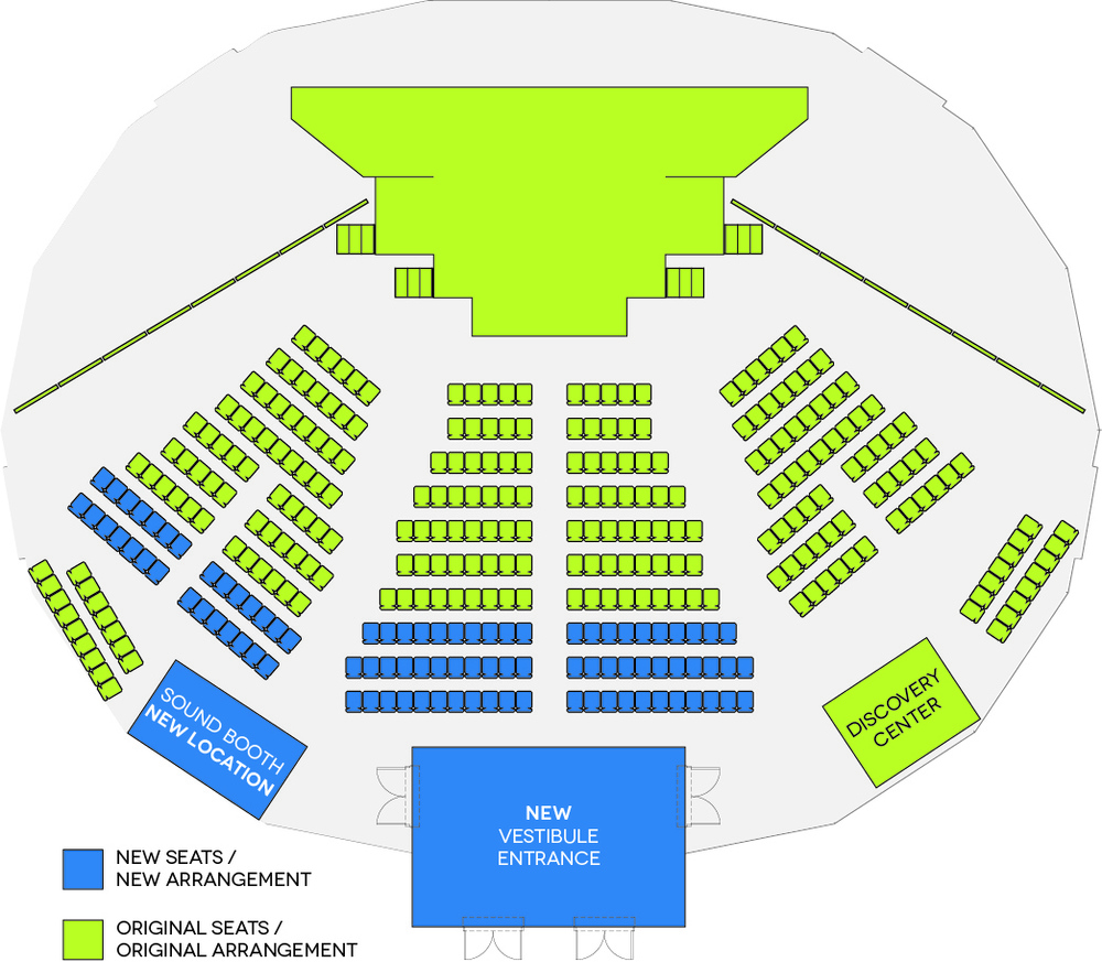 The Next Step - map of new seating arrangement (click for larger image)