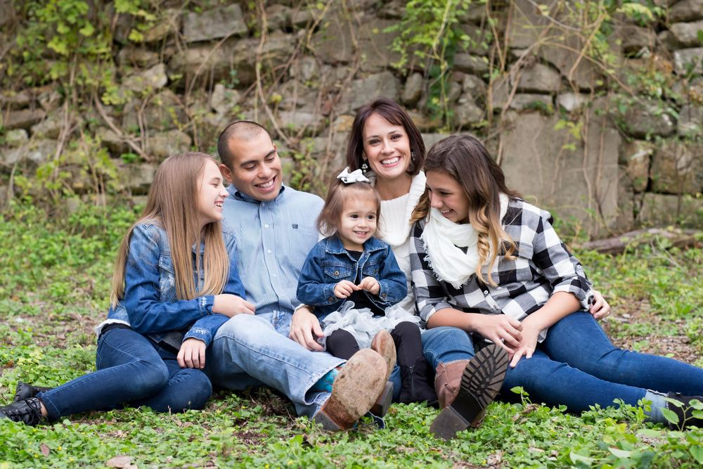 Sherree Padilla (top right) with her husband Saul and their three daughters.