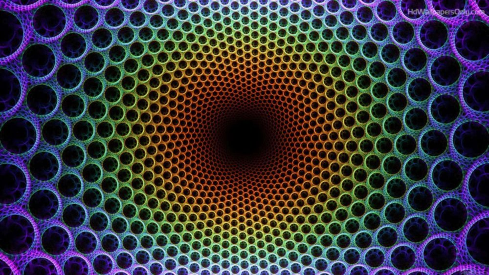 optical illusion with color where it grows darker in the middle the longer you stare at it