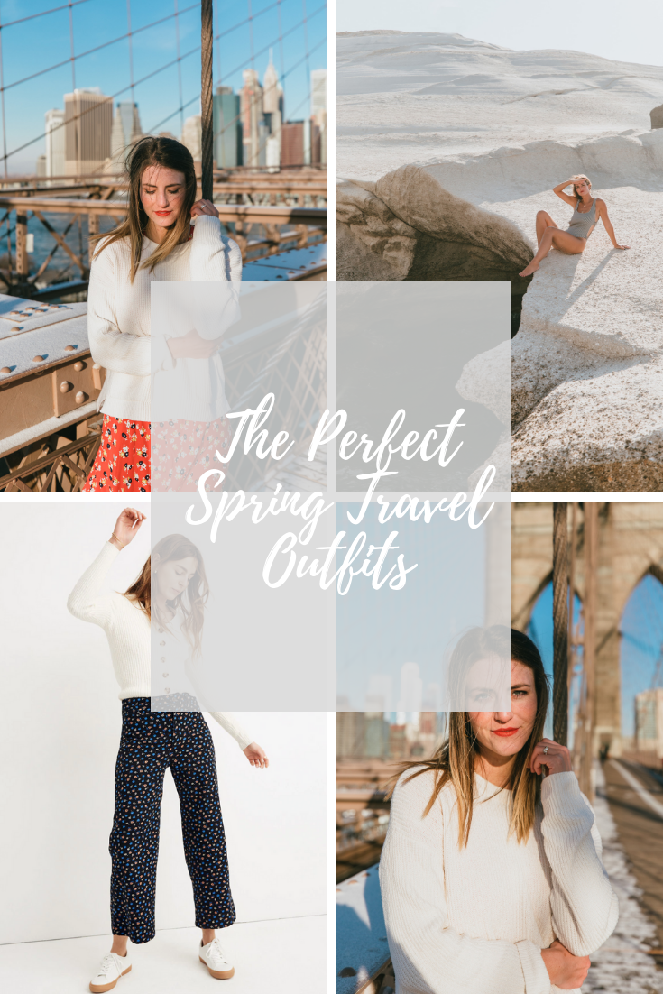 the perfect spring travel outfits