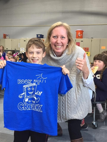 T-shirt Contest Winner - Monte Cook, 4th grade, designed the winning t-shirt for BOOK IT to the CREEK.
