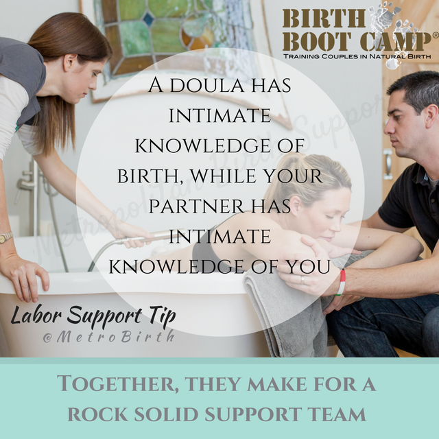 Labor Support Tip from Metro Birth Support