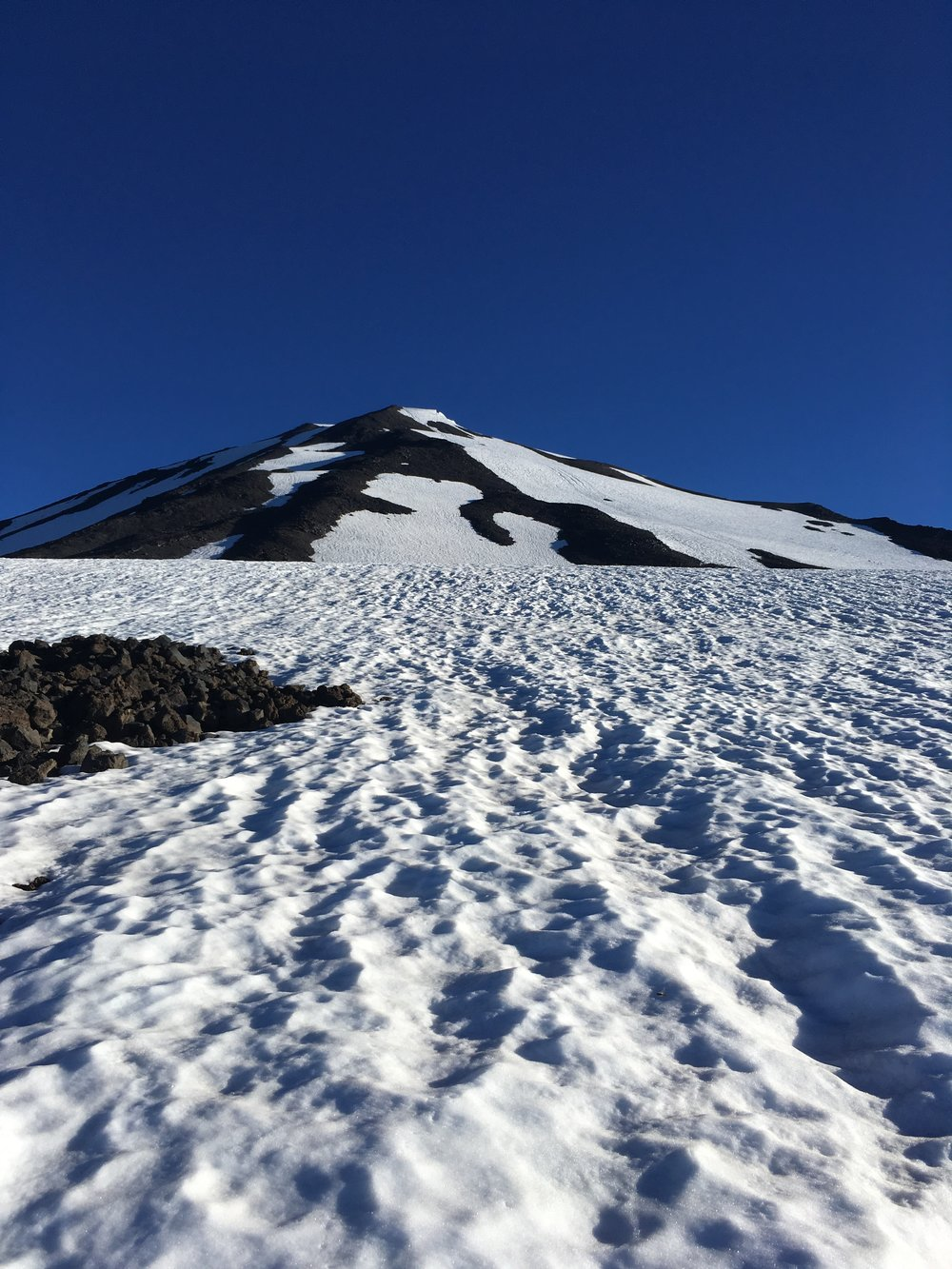 The Suxdorf, Mt. Adams, Cascade Range. View of the false summit.