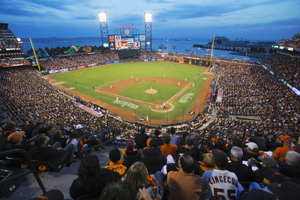 AT&T Park (San Francisco Giants) – The San Francisco Giants have always been at the forefront of technological innovation in sports stadiums. In 2004, the team was the first sports franchise to offer Wi-Fi to its fans inside a stadium.