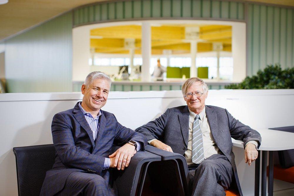 Sir Nicholas Grimshaw & Brian Walker open @HermanMillerLtd's PortalMill building