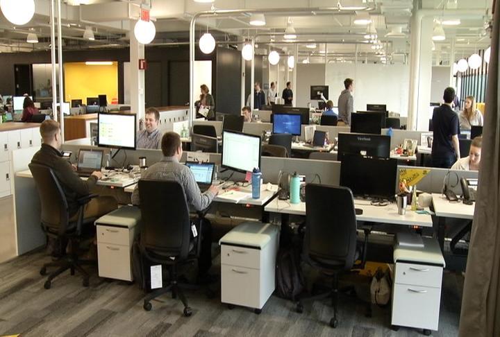new agile workspace at ibm encourages teamwork