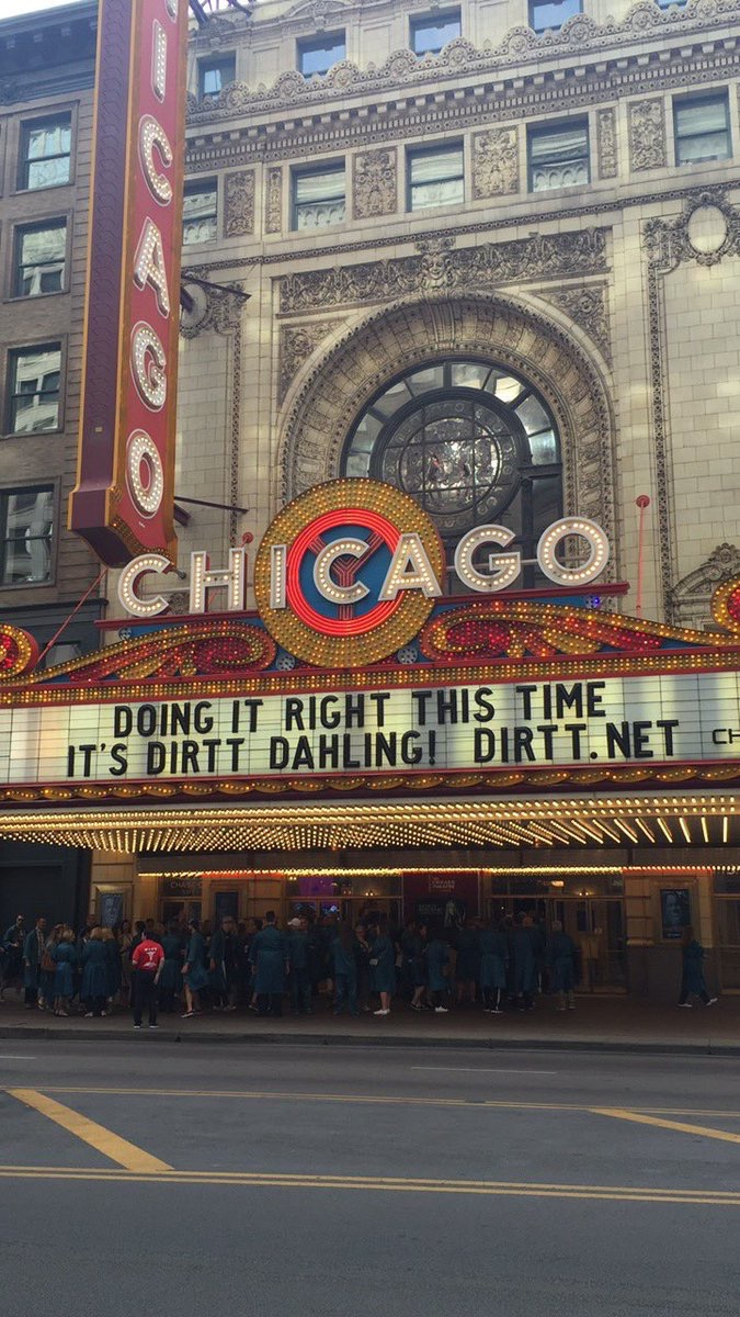 DIRTT It's #DIRTT, dahling. The crew has arrived at the @ChicagoTheatre for Partner Day! #DIRTTconnext pic.twitter.com/2dq0XkeYcU Jun 10, 2017, 7:40 AM
