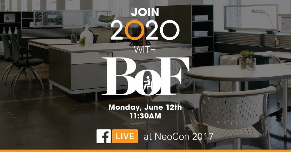 2020spaces  Join us via Facebook Live at #NeoCon2017! Live with @BellowPress on June 12 11:30 AM Booth 7-5122 2020spaces.com/neocon-2017-fa… pic.twitter.com/v9AHQ8n1Wr  Jun 10, 2017, 10:05 AM