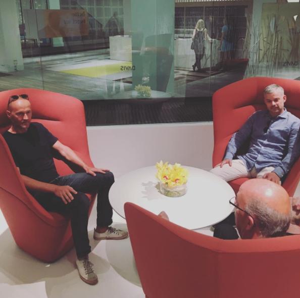 Davis_Furniture  Designers Jehs+Laub enjoying the new Soft Privacy with President Danny Davis @ Merchandise Mart instagram.com/p/BVLFDv5FXi-/  Jun 10, 2017, 3:51 PM