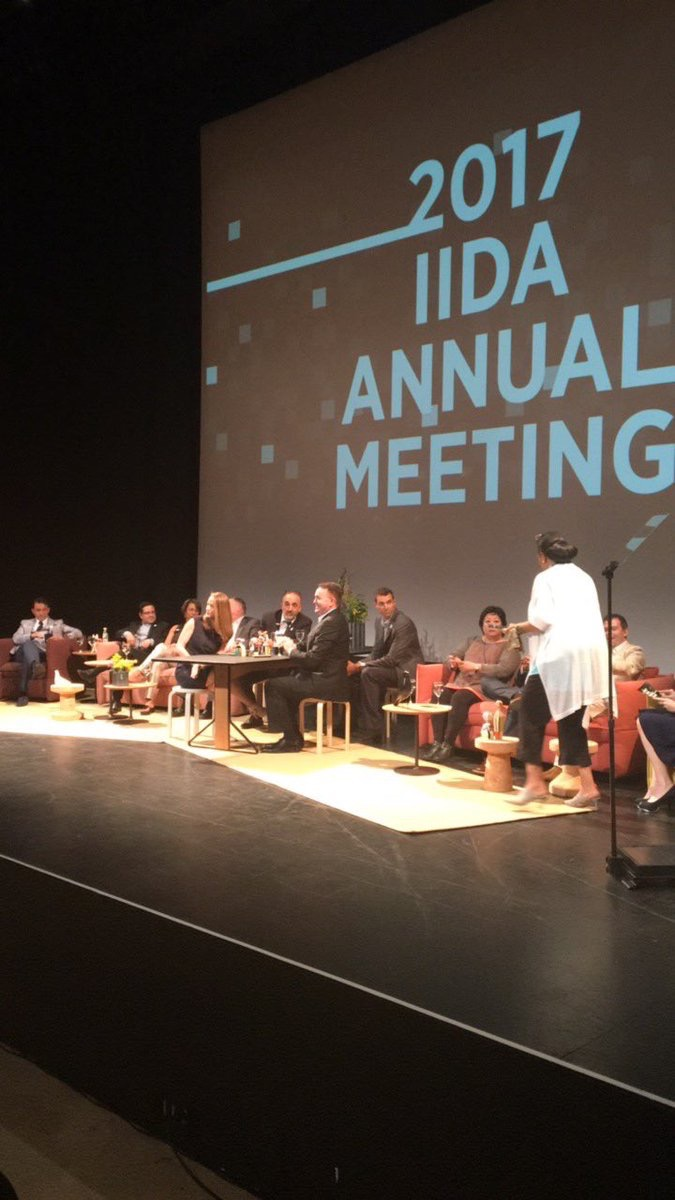 IIDA_HQ  Packed house! And...we're live. 👊🏽 #IIDAhonors #iamIIDA pic.twitter.com/JvyIZyUFLV  Jun 11, 2017, 1:16 PM