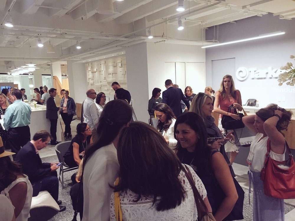 contractmag  Exciting conversation is going on right now before the Inspirations reception @TarkettContract showroom! #NeoCon2017 pic.twitter.com/vvTF3GcqW1  Jun 11, 2017, 4:01 PM