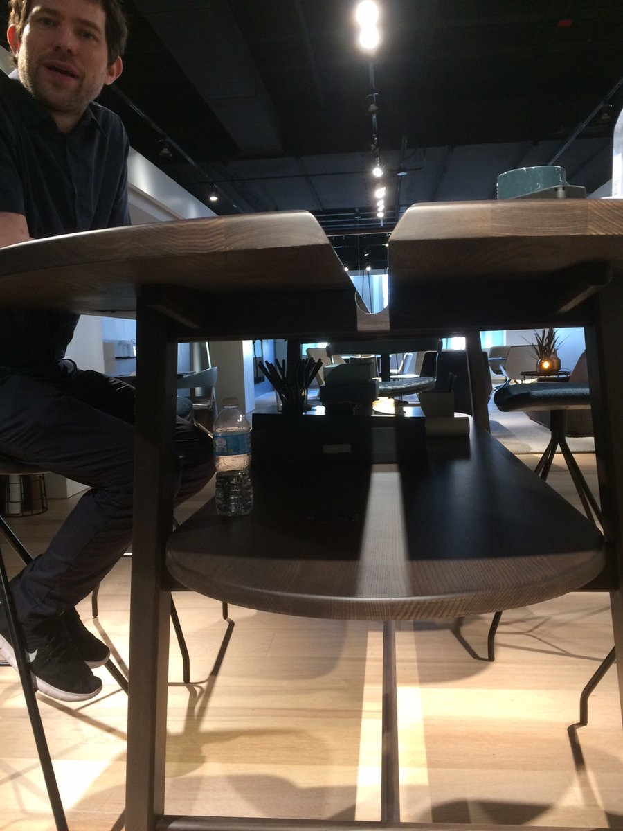 stephenmwitte  @HBFContract has Studio Gorm's Studio Tables that use a super practical solution to community work without clutter #NeoCon2017 pic.twitter.com/LFk08GCN3B  Jun 11, 2017, 9:51 PM