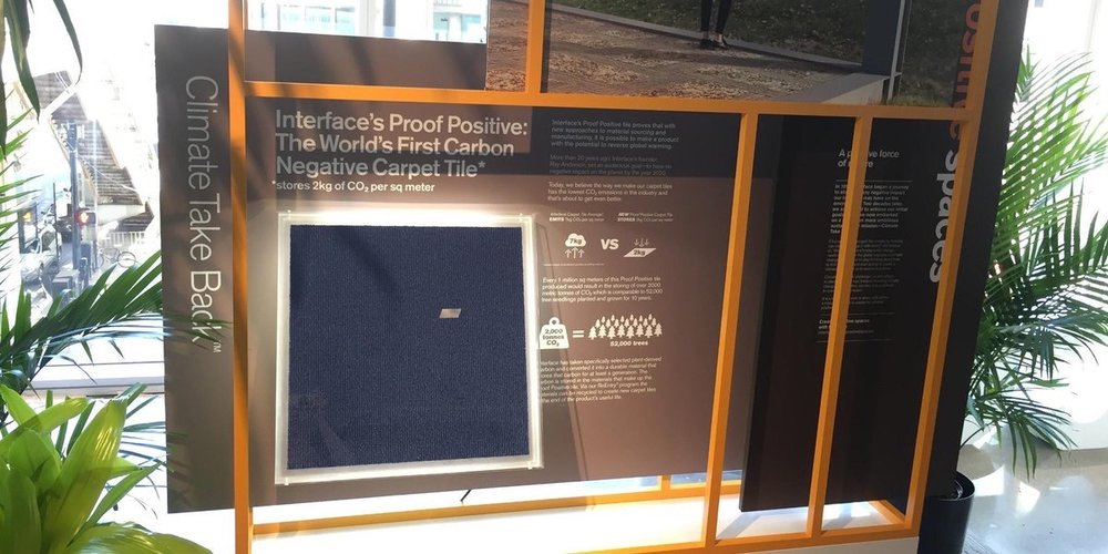 InterfaceInc  We're showcasing a carbon negative #carpettile. Working towards our #ClimateTakeBack mission. #NeoCon2017 interf.ac/2riAUCY pic.twitter.com/Kw5vL4ipIf  Jun 12, 2017, 9:15 AM