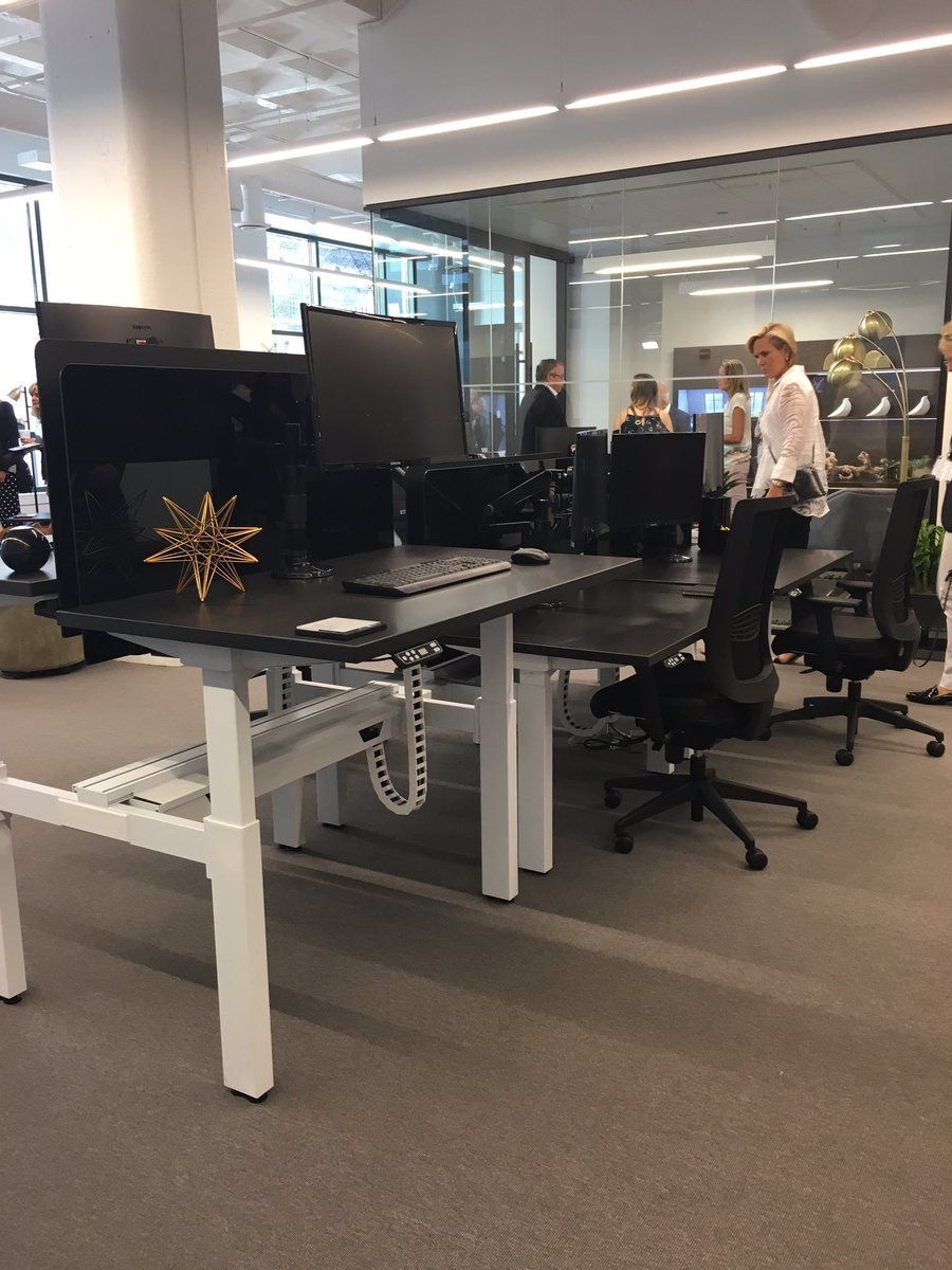 NBFonline  Beautiful adjustable height desks at the @NationalOffice showroom at #NeoCon2017 pic.twitter.com/WYNmvsoiBm  Jun 12, 2017, 9:22 AM