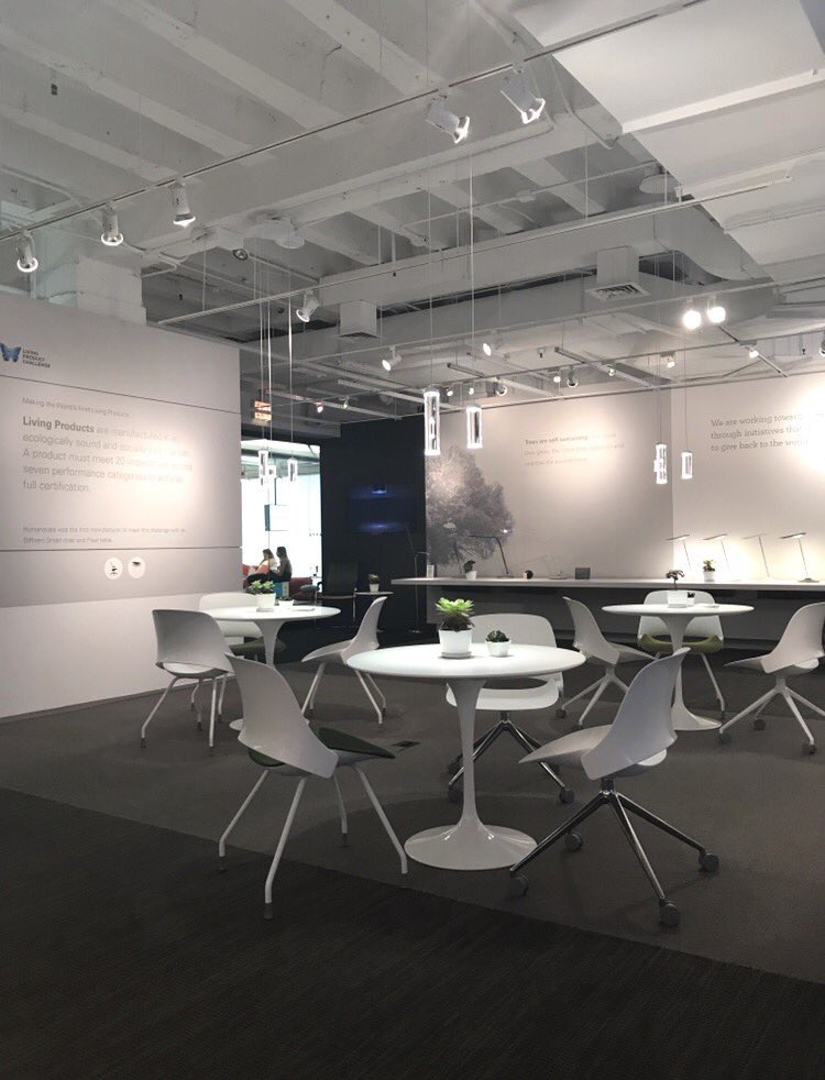humanscale  #NeoCon2017! Visit us @ showroom #351 to see how we're exploring wellness and sustainability in the workplace and beyond. #DesignForHumans pic.twitter.com/Er08EwqHBP  Jun 12, 2017, 9:28 AM