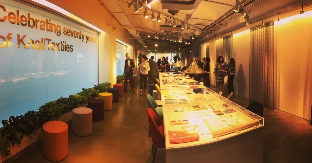 KnollTextiles  Check out how we're celebrating 70 years of KnollTextiles and 100 years of Florence Knoll at NeoCon booth 1111! pic.twitter.com/JCyUdiirud  Jun 12, 2017, 9:52 AM