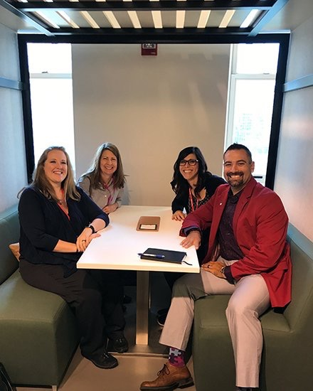 LeoADaly  Our interiors team's first #NeoCon2017 stop: @OFSBrands #groupretreat. We're trying out the latest designs to share ideas with clients! pic.twitter.com/X4iFGk0FDL  Jun 12, 2017, 10:22 AM