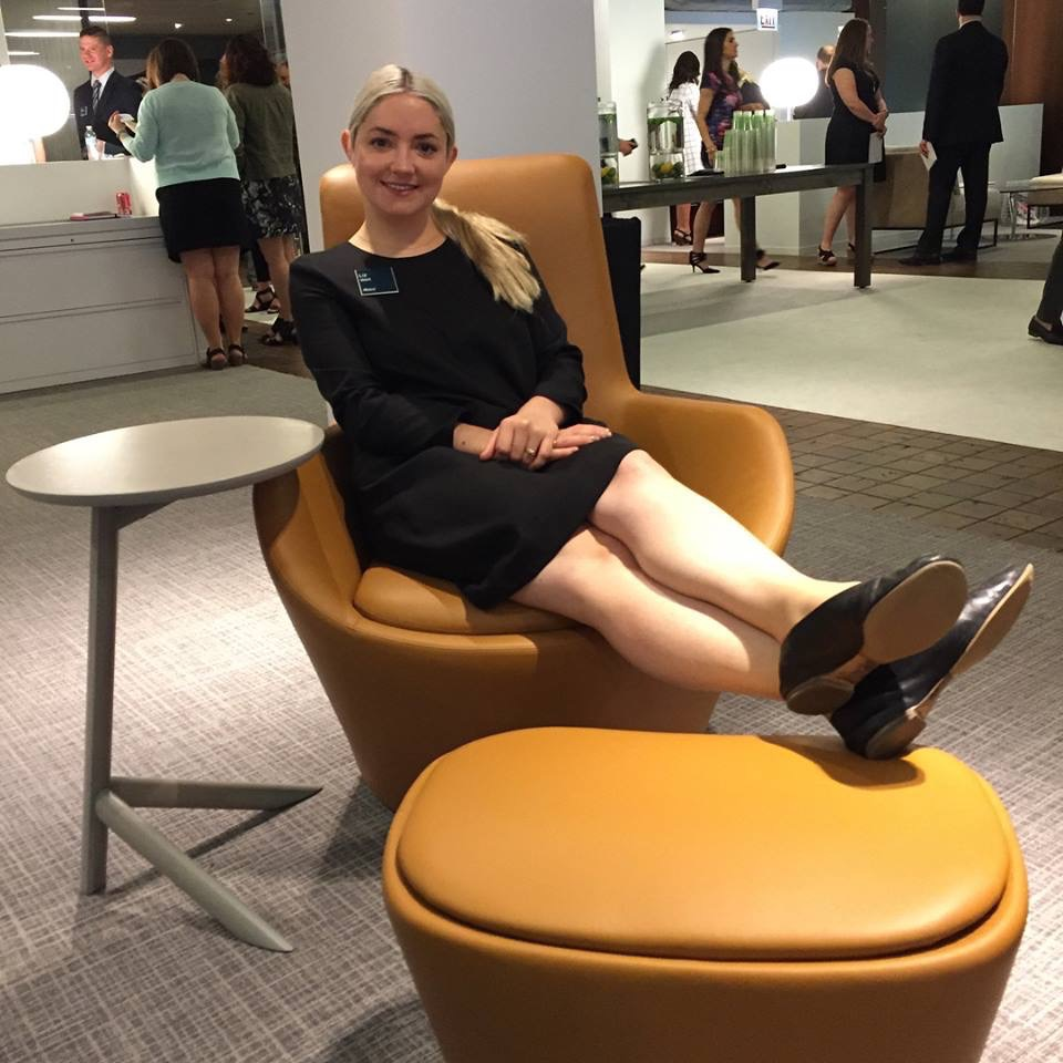 Inside_Source  Good morning Liz @allsteel, looking super stylish in that sleek chair at #NeoCon2017! 👋 #InsideNeoCon #OfficeFurniture #OfficeChair pic.twitter.com/C3rzkCERk4  Jun 12, 2017, 10:40 AM