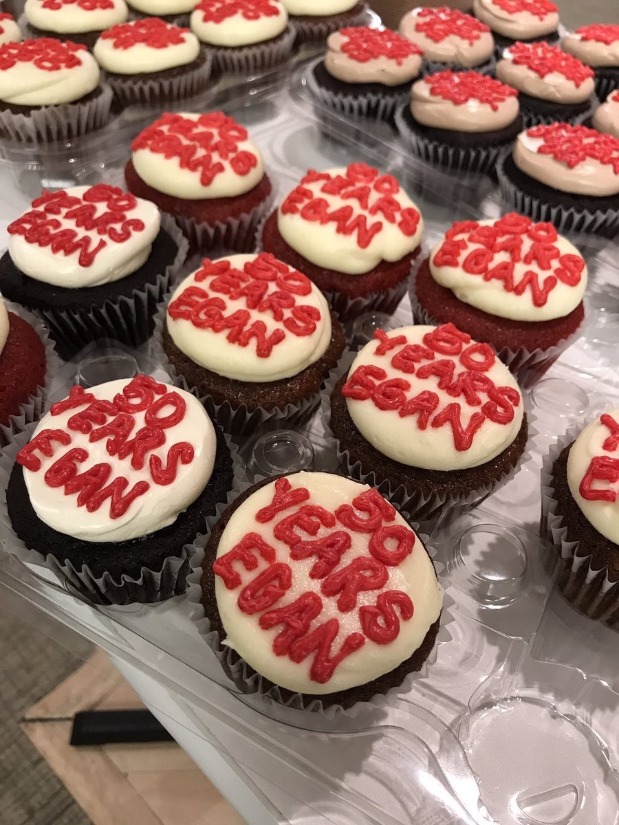 eganvisual  Fifty Years Egan cupcakes are going fast at Suite 1079 @NeoCon_Shows #NeoCon2017 #neocon pic.twitter.com/Bi2DgmQxYx  Jun 12, 2017, 11:09 AM