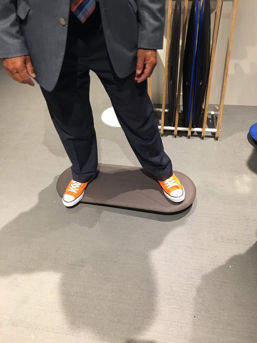 NBFonline  Surfing at the office, anyone? 🏄 Love the new Kick boards at @safcoproducts! #NeoCon2017 pic.twitter.com/KTrr3DPMPO  Jun 12, 2017, 11:10 AM