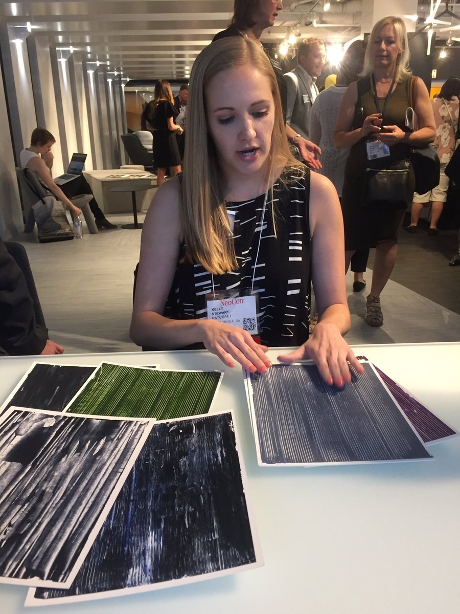 InteriorsSource  . @PatcraftFloors designer Kelly Stewart talks about the inspiration and process behind Subtractive Layers #NeoCon17 #isneocon17 pic.twitter.com/Dv0cXnFoDY  Jun 12, 2017, 11:23 AM