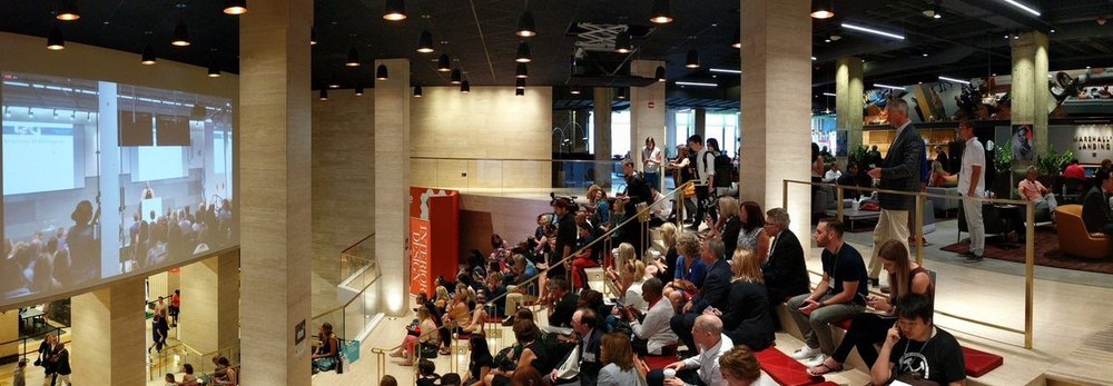 NBFonline  Panorama announcing #NeoCon2017 #keynote speaker @ariannahuff via #livestream #video pic.twitter.com/n4BLsDYdd3  Jun 12, 2017, 11:43 AM