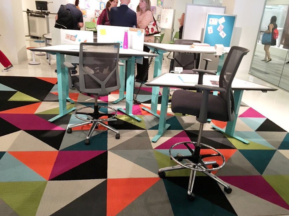 InterfaceInc  Spotted at #NeoCon2017: FLOR Made You Look at @izzyplus pic.twitter.com/o1BCW594R8  Jun 12, 2017, 12:35 PM