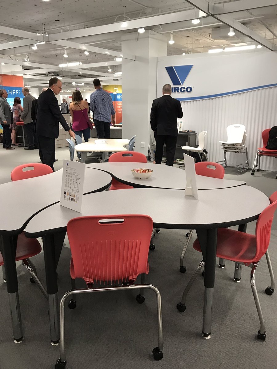 INDEALfurniture  At Virco to see the latest product for #learning. #NeoCon2017 booth 7-3066 pic.twitter.com/6zVH6GQapg  Jun 13, 2017, 3:25 PM
