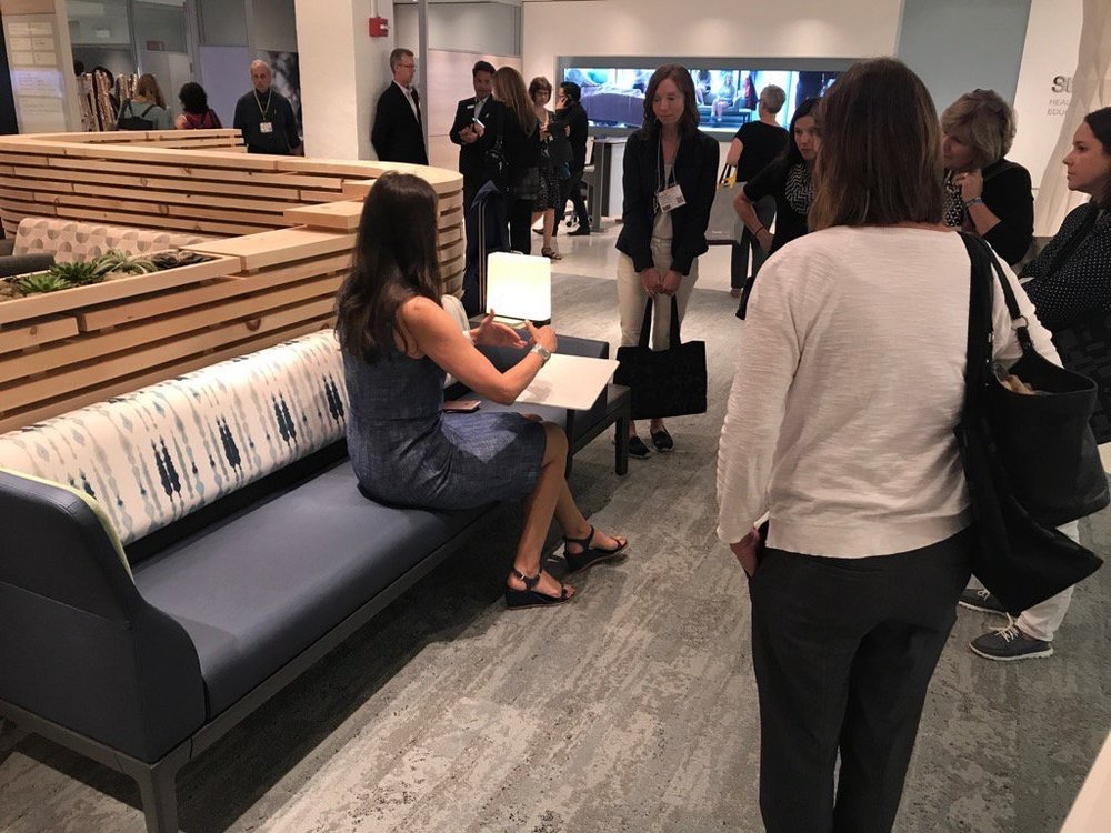 burnsncsu Demonstrating @Steelcase @SteelcaseHealth Neocon Gold Surround sleeper to Durham designers. @StorrOffice #NeoCon2017 pic.twitter.com/2xjBlK64yG Jun 12, 2017, 1:43 PM