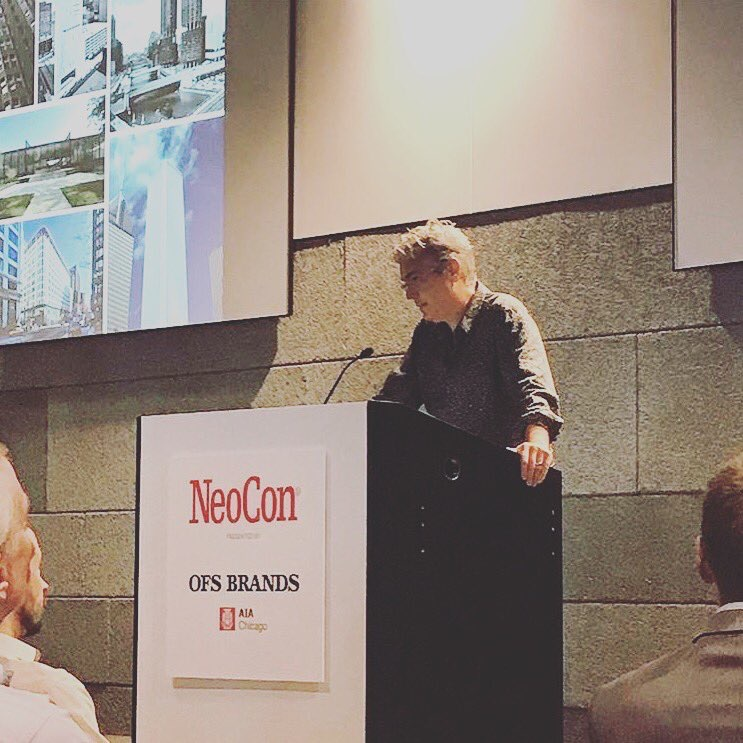 NeoCon_Shows  John Ronan takes the stage for his keynote speech @OFSBrands @AIAChicago @johnjronan #neocon2017 pic.twitter.com/ZG6YybKzWg  Jun 14, 2017, 9:04 AM