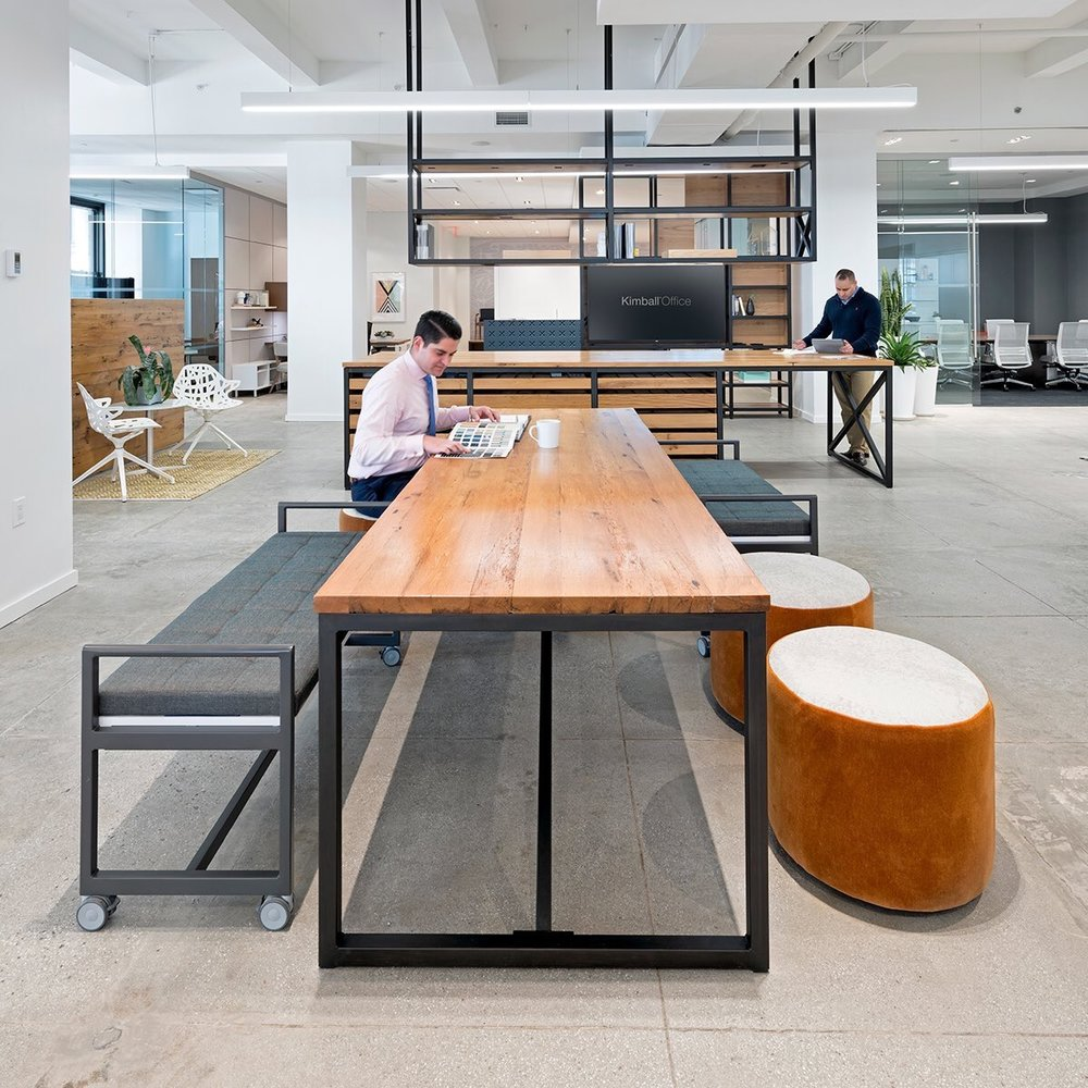 KimballOffice Custom table with KORE and Dwell at our New York showroom. Photo by @milieu. Space by @o_plus_a. #kimballoffice #design #interiordesign pic.twitter.com/wcvHrw1NG2 Jun 22, 2017, 4:10 PM