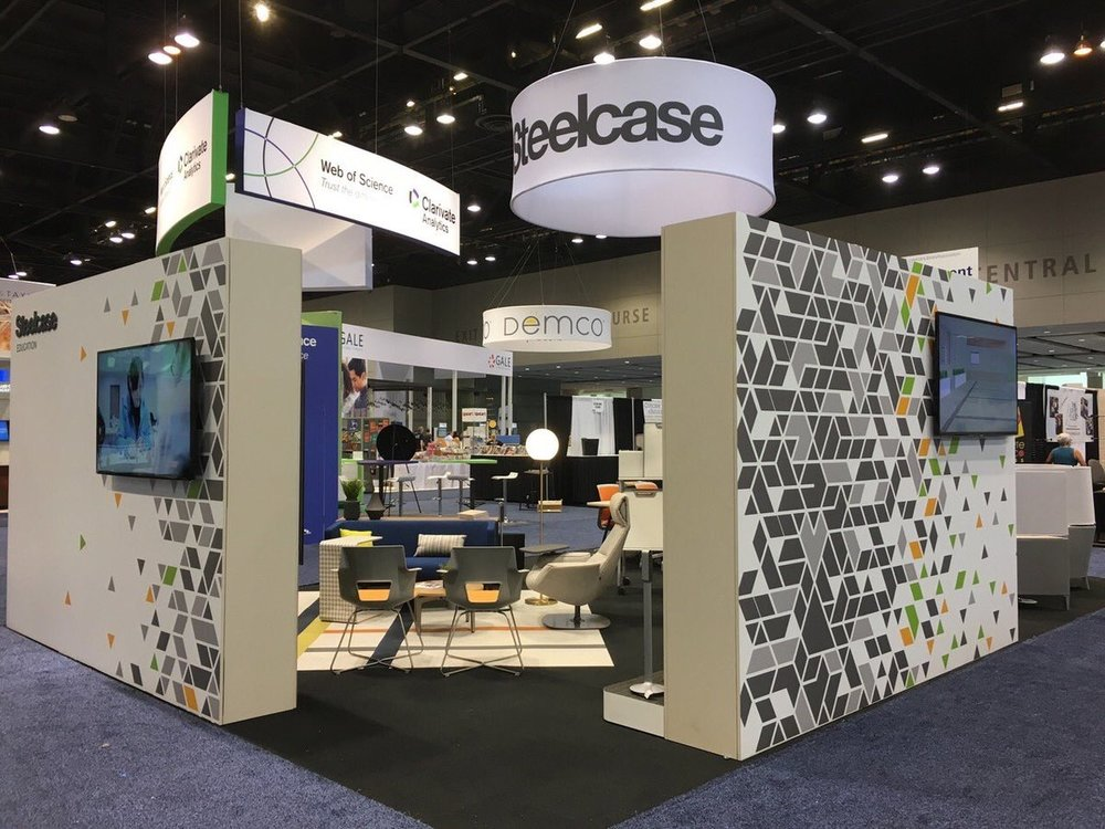 SteelcaseEDU  Sneak peek of our booth at #ALAAC17! Stop by #1419 to see the latest solutions for your library space. pic.twitter.com/sRFk0Yr2GZ  Jun 23, 2017, 4:38 PM