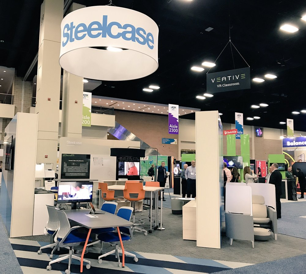 SteelcaseEDU  We're excited to be at #ISTE17 this week! Visit us at booth #2242 to see our latest active learning solutions. https://t.co/NwnstydsAG  6/26/17, 8:44 AM