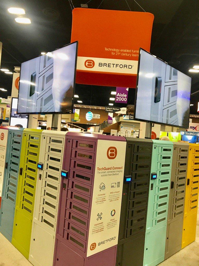 markphubbard  Beautiful TechGuard charging locker from @bretford #ISTE17 https://t.co/vDjN2xgbPS  6/26/17, 10:31 AM