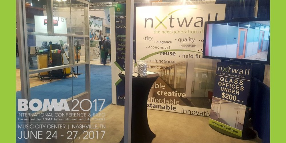 nxtwall  Last day of #BOMA2017 International Expo in Nashville. Great Show. See you next year! https://t.co/him29Zixnw  6/27/17, 2:11 PM