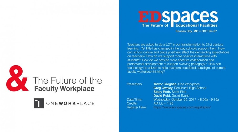 oneworkplace  Join Trevor Croghan from One Workplace at EDspaces 2017 oneworkplace.com/blog/edspaces-… pic.twitter.com/JqSLGXHjqe  Aug 23, 2017, 12:25 PM