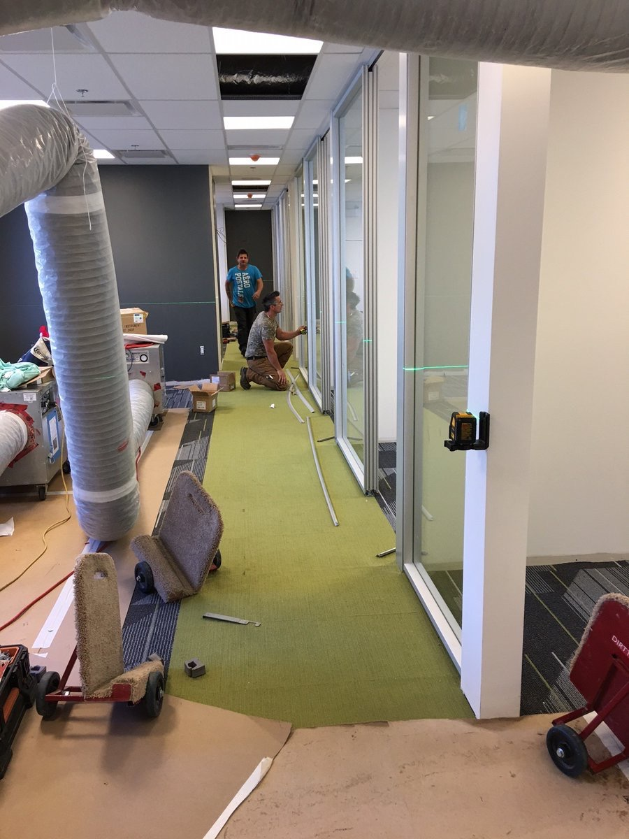 Monk_Office  One of our current @DIRTT installations in action. The crew is moving so fast!! pic.twitter.com/eE7BFdM06Q  Aug 28, 2017, 2:49 PM