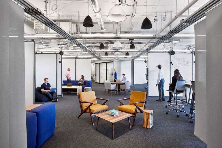 Capital One in Arlington, VA, by Gensler. Photography by Garrett Rowland.