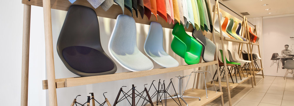 The 'pop-up' shops are dedicated to the versatility of the design classic. image © VITRA, photo: dejan jovanovic