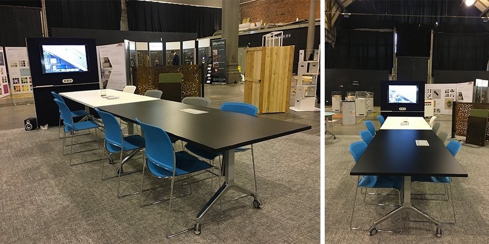 Boss_Design  Are you in & around #Manchester? Why not visit us at #DesignPopUp @ Upper Campfield Market Hall to experience our Portal, Starr & Deploy #furniture. 9-10th Nov from 10.30am. Find us here goo.gl/maps/SmpJoMQrq… pic.twitter.com/sMgqFKvIcF  Nov 9, 2017 at 9:33 AM