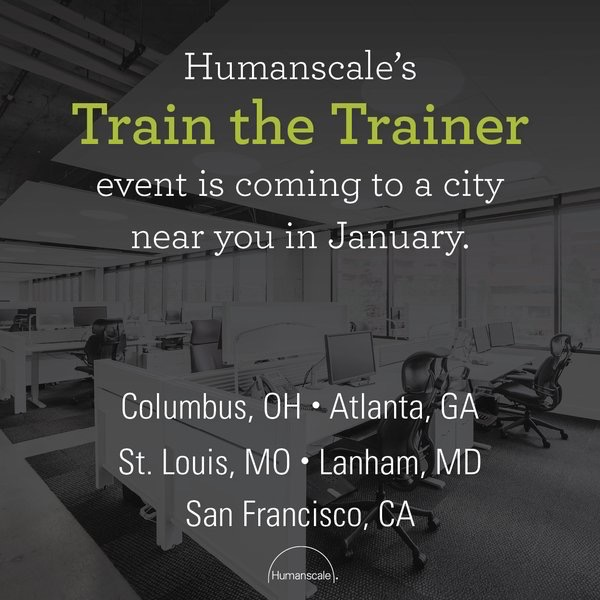 humanscale Add Certified Office Ergonomics Evaluator to your repertoire of skills! Find a workshop near you: bit.ly/2f1hrNr pic.twitter.com/L2VnVwN93X Dec 15, 2017 at 8:00 AM