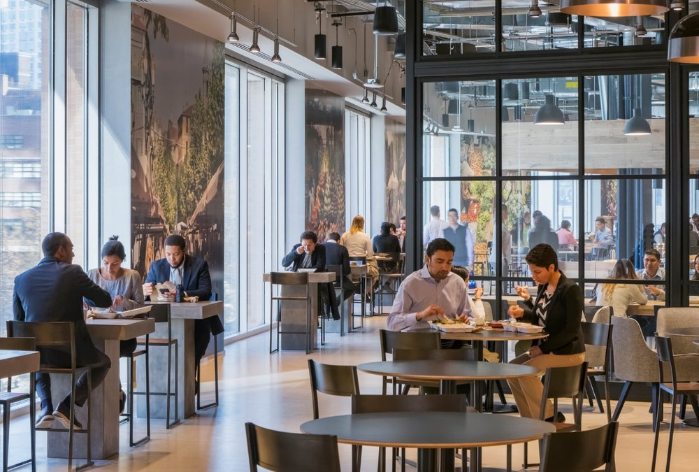 Integrating social amenities can give employees more options for where to work. Photo © Jeff Goldberg |Esto