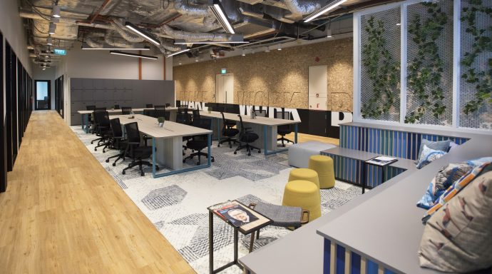 Verizon's latest space, recently opened in Singapore and partnered with JustCo – Image courtesy of JustCo