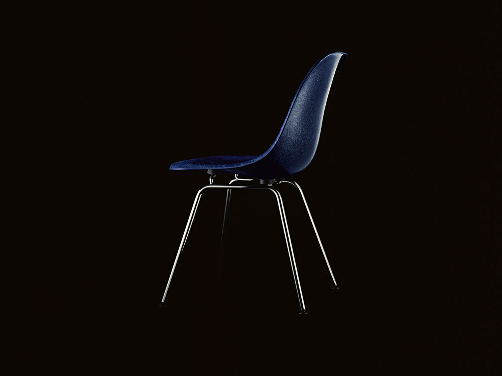 In 1950, Herman Miller presented the first mass-produced Eames armchairs with fibreglass shells. Vitra began manufacturing the Fiberglass Chairs in 1957 for markets in Europe and the Middle East.